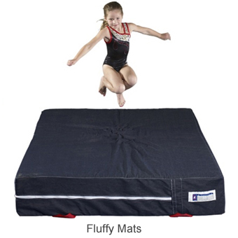 Fluffy Denim Gymnastic Mat 60x80x12 Inches